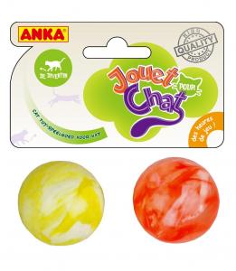 2 balles extra rebondissantes - Anka - Ø 3 cm