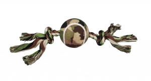 Jouet corde tennis US Dog Navy - 16 cm