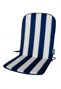 Lot de 2 Coussins fauteuil Cancale - Jardin Privé - 940 x 460 x 25 mm - Bleu