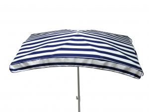 Parasol rectangle Cancale - Jardin Privé - 200 x 140 cm - Bleu