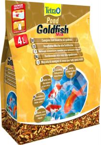 Tetra Pond GoldFish Mix 4 L - Mélange alimentaire complet pour poissons rouges