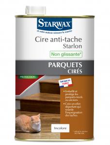 Cire anti-tache Starlon pour parquet ciré - Starwax - Incolore - 1 L