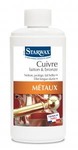 Nettoyant spécial cuivre, laiton et bronze - Starwax - Flacon de 250 ml