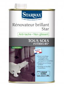 Rénovateur brillant Star pour sols intérieurs - Starwax - Bidon de 1 L