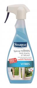 Nettoyant anti-traces à l'alcool spécial vitres - Starwax - Pulvérisateur 500 ml