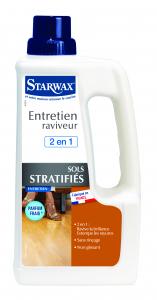 Entretien raviveur 2 en 1 pour sols stratifiés - Starwax - Bidon de 1 L