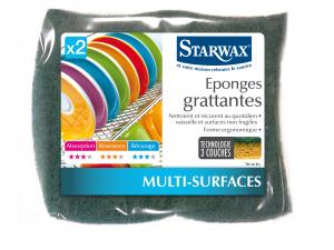 Eponge grattante - Starwax - Lot de 2