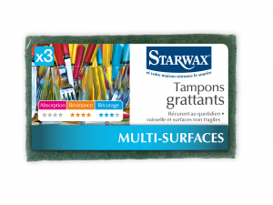 Tampon grattant - Starwax - 90 x 150 cm - Lot de 3
