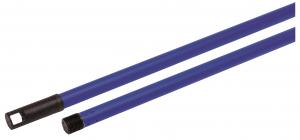 Manche à balai bleu en métal NESPOLI - 120 cm
