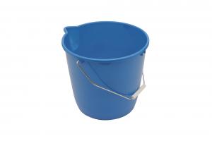 Seau rond de ménage bleu NESPOLI - 12 L