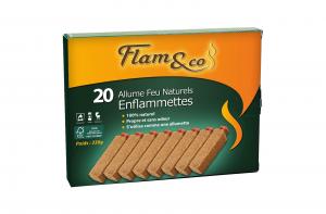 Allume-feu Enflammettes naturelles - Flam&Co - Boîte de 20