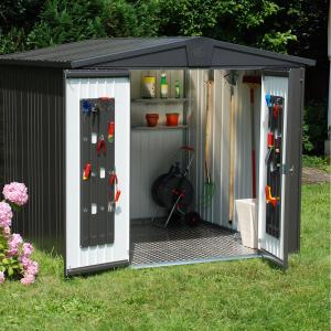 Abri de jardin Métal - Taille 6 - Europa - 244 x 300 x 203 cm - Plusieurs coloris au choix