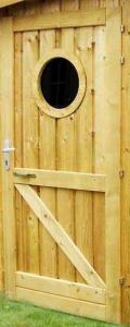 Hublot porte en bois traité - Diamètre 370 mm