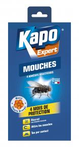 Anti-mouches - Kapo - Bandes adhésives motif fleur x 4