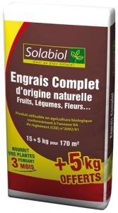 ENGRAIS COMPLET 15+5KG - SOLABIOL