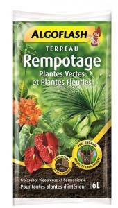Terreau rempotage plantes vertes et plantes fleuries - Algoflash - 6 L