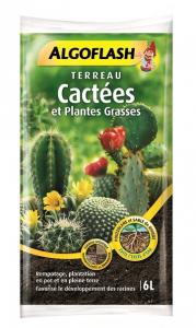 Terreau cactées et plantes grasses - Algoflash - 6 L