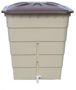 Récupérateur d'eau Cuve rectangulaire sable-marron GRAF - 300 L