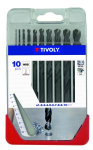 Coffret 10 forets à métaux TX - Tivoly - Ø 1 à 10 mm