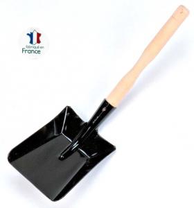 Pelle à cendre avec manche en bois - 38 cm