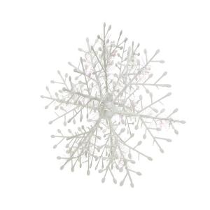 Flocon de neige - A suspendre - blanc/ir isé - Ø 18 cm