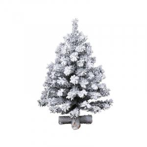 Mini sapin enneigé - Vert/blanc - Ø 33 cm - 45 cm