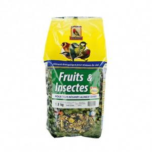 Mélange fruits et insectes pour oiseaux - Natures Market - sac 1,8 kg