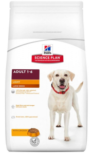 Aliment chien Science Plan Canine Adult Light Large Breed au Poulet - Hill's - 12 Kg