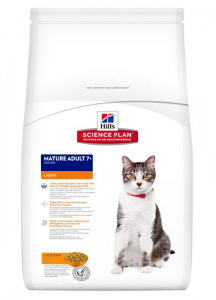 Aliment chat Science Plan Feline Mature Adult 7+ Light au Poulet - Hill's - 1,5 Kg
