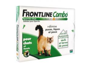 Frontline Combo x 6 - Traitement anti-puces pour chat