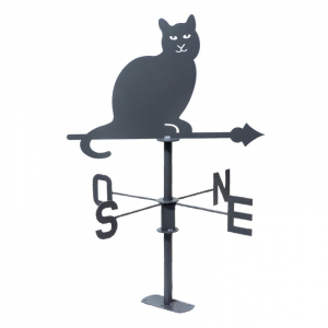 GIROUETTE CHAT GRIS A7021