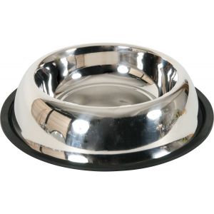 Gamelle inox antidérapante Ø 26 cm pour chien Zolux - 900 ml