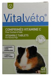 Comprimés de Vitamine C - Vitalvéto - Pour cochon d'inde - x 40
