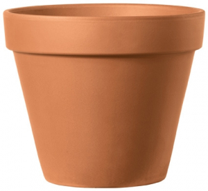 Pot rond horticole - Deroma - terre cuite - 21 cm