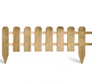 Bordure demi-rondins à planter - JARDIPOLYS - H 30/45 x 120 cm