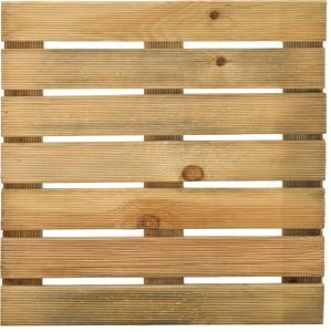Dalle rainurée pin traité classe 3 - JARDIPOLYS - 50 x 50 cm
