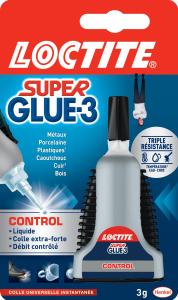 Colle - Loctite - Superglue 3 - Control - 3 g
