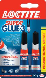Colle - Loctite - Superglue 3 - Universal - 2 x 3 g