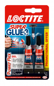 Colle - Loctite - Superglue 3 - Power Flex - x 2 -3g