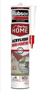 Mastic - Perfect Home - Rubson - Acrylique - Murs et fenêtres - Acajou - 280 ml
