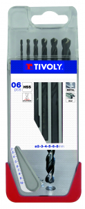 Coffret 6 forets à métaux TX - Tivoly - Ø 2 à 8 mm
