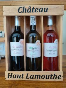 Coffret 3 bouteilles Château Haut-Lamouthe - Vin rouge, rosé et blanc
