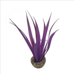 Plante herbe en plastique coloré - Labéo - 16x14x14 cm