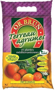 TERREAU AGRUMES 5L - OR BRUN