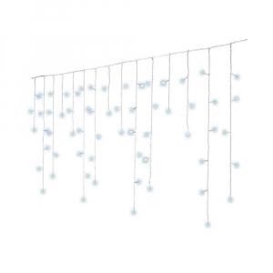 Guirlande stalactites - Blanc froid - 7, 5 m - Câble blanc  - 175 LEDS