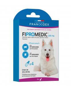 Traitement antiparasitaire pipettes grand chien Fipromedic - Francodex - 4 x 2.68 ml