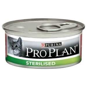 Pâté individuelle pour chat Sterilised - Proplan - saumon - 85 gr