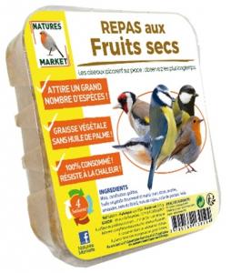 Repas aux fruits secs pour oiseaux - Natures Market - 315 gr