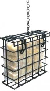 Mangeoire pour blocs de graisse - Natures Market - acier - 13x4x12 cm