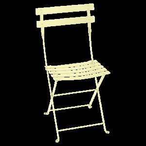 Chaise pliante Bistro - Fermob - Métal - Citron givré